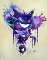 Gastly Evolutions by Nohbyl