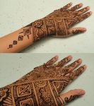 Geometrical Henna by A-w0man