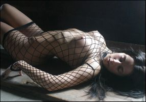 Black Fishnet by darkmatterzone
