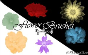Flower Brushes by DeviousRose
