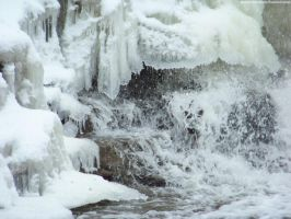 Winter Waterfall : 03 by taeliac-stock