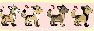 Pup Adoptables .OPEN. by HappyFoxChelsy