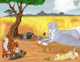 Lazy morning on the savannah by SenterVeris