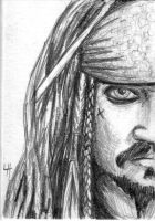 Jack Sparrow Sketch card by JediSeeker1