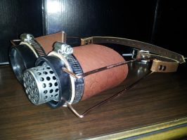 Steampunk Goggles - another view by deadlanceSteamworks