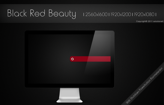 Black Red Beauty by solutionall