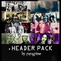 Header Pack by rurogrime by rurogrime