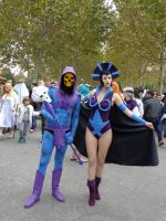 Skeletor and Evil-Lyn Cosplay by Maspez