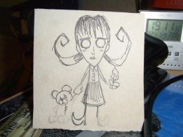 Paper Don't Starve Willow WIP by MilleniumCount