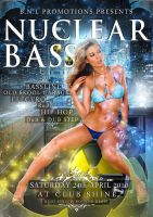 NuclearBASS Party Flyer Front by LaxDesign