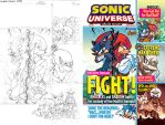 Sonic Universe #68 Variant Cover by jongraywb