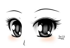 Anime eyes by LOVE--WING