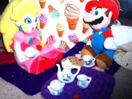 Plushie Tea Party XD by paratroopaCx
