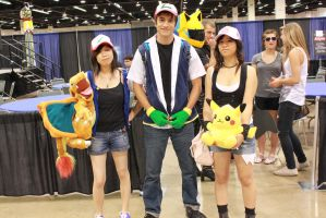 AM2 2011 Day3: Pokemon trainers 2 Ash's and White by JessiieFase