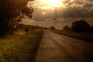 Sunset in the route 74 HDR by AlejandroCastillo