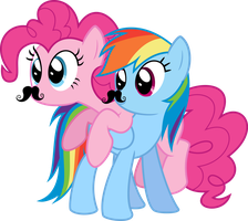 Dashie and Pinkie by Givralix