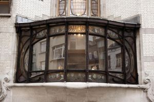 art nouveau window frame by bouffi
