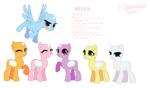 Mlp Base - We are Adorable! by 1-RainbowSmile