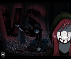 Request: OCvsCanon ::Ranger666 vs Eyeless Jack:: by DaReckless