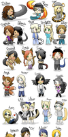 Project 8 Chibis by DisneyPuff