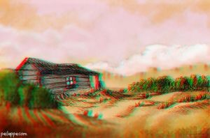 3D Anaglyph study by peileppe