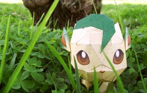 Leafeon papercraft 2 by Alicss