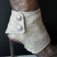 Two Button Ankle Spats by MONJIO