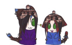 .: Our llama hats :. by SapphireItrenore