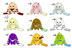 Terriermon Point Adopts by Carly707