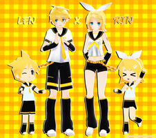Happy Birthday Kagamine 1/3 - Len x Rin by ShootingStarBlue