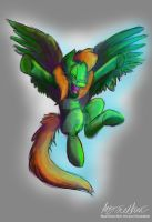 Commission Green Fly by Mad--Munchkin