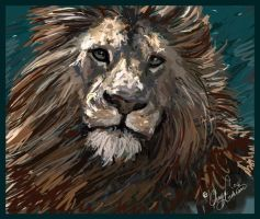 Aslan Speed Painting by ChayaA
