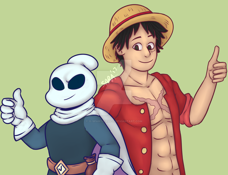 Flinthook and Luffy [REQ] by o-Sparticaus-o
