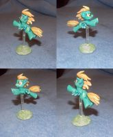 MLP FiM custom: Lightning Dust in flying pose! by vulpinedesigns