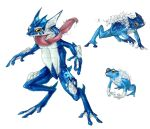 Realistic Pokemon: Froakie Evolution Line by ReneCampbellArt
