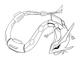 Rayquaza Lines by jaclynonacloudlines