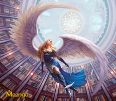 Fleeing Angel - Moonga by Edli