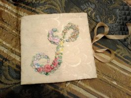 Silk ribbon embroidery case by fairyfrog