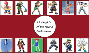 My 12 Knights of the Round Table by jacobyel