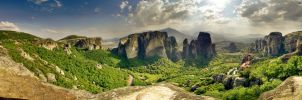 Meteora Panoramic 1, Greece by dcgi