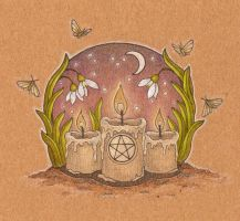 Imbolc candles by me-tal