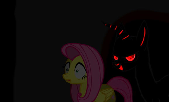 Fluttershy - There's Something Behind me! by jhilton0907