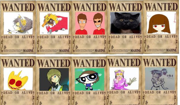 Wanted Posters of my Current Group by Zoomzamzim