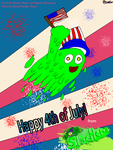 Happy 4th from Slime Hero! by CreativeArtist-Kenta