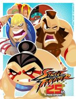 STREET FIGHTER 25TH ANNIVERSARY TRIBUTE 4 by vancamelot