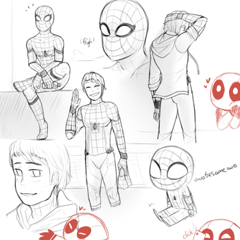 Tom Holland in Spidey suit by owoSesameowo