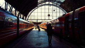 Bergen railway station by Lureyya