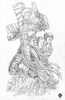 Trigun Sketch Pencils HI-RES by BrettBarkley