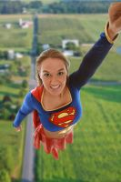 Supergirl Flying by wstoneburner