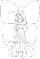 pregnant fairy3 - pencil by thestoryteller1